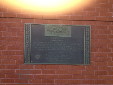 Historical plaque .  Always a nice touch.